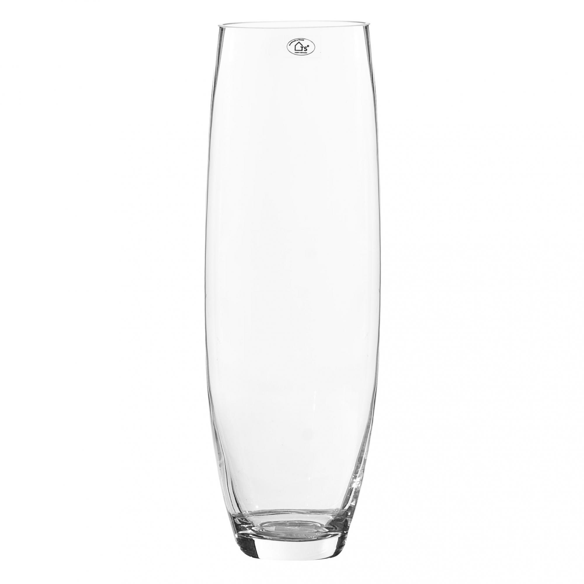 Vaso de Vidro Artesanal Polonês Banan 15X45cm