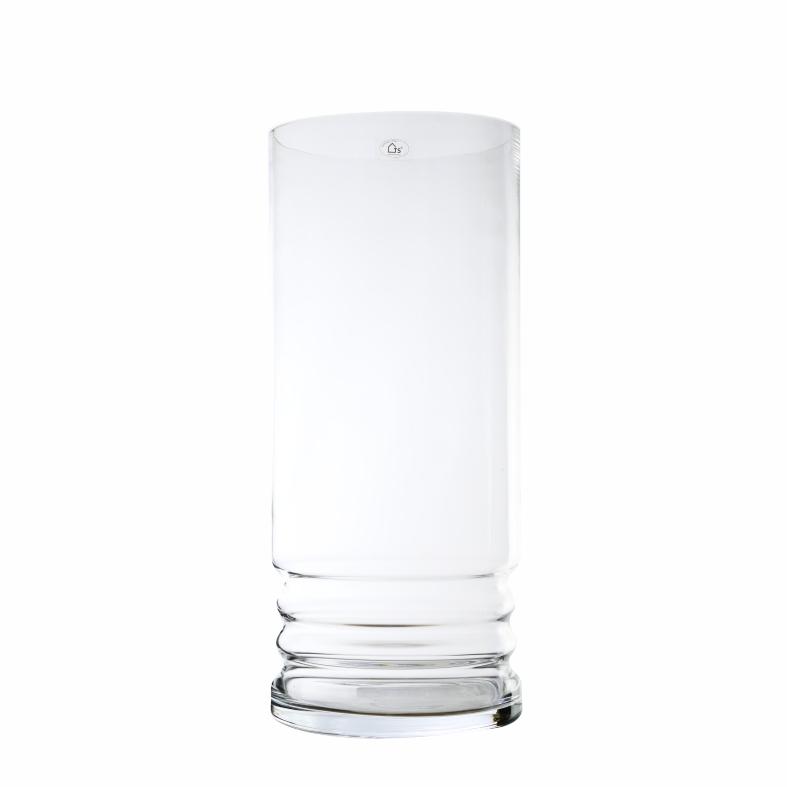 Vaso de Vidro Artesanal Polonês Cil 22x50cm