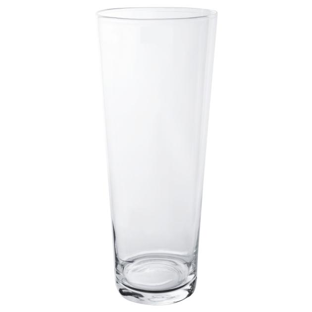 Vaso de Vidro Artesanal Polonês Cone 15X30cm