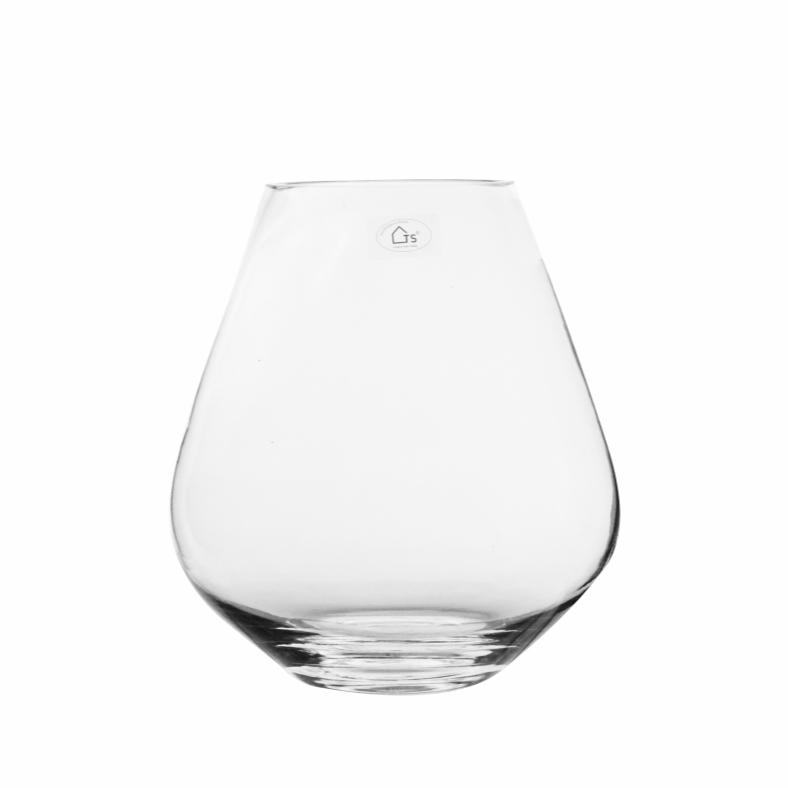 Vaso de Vidro Artesanal Polonês Fecha 20x22cm