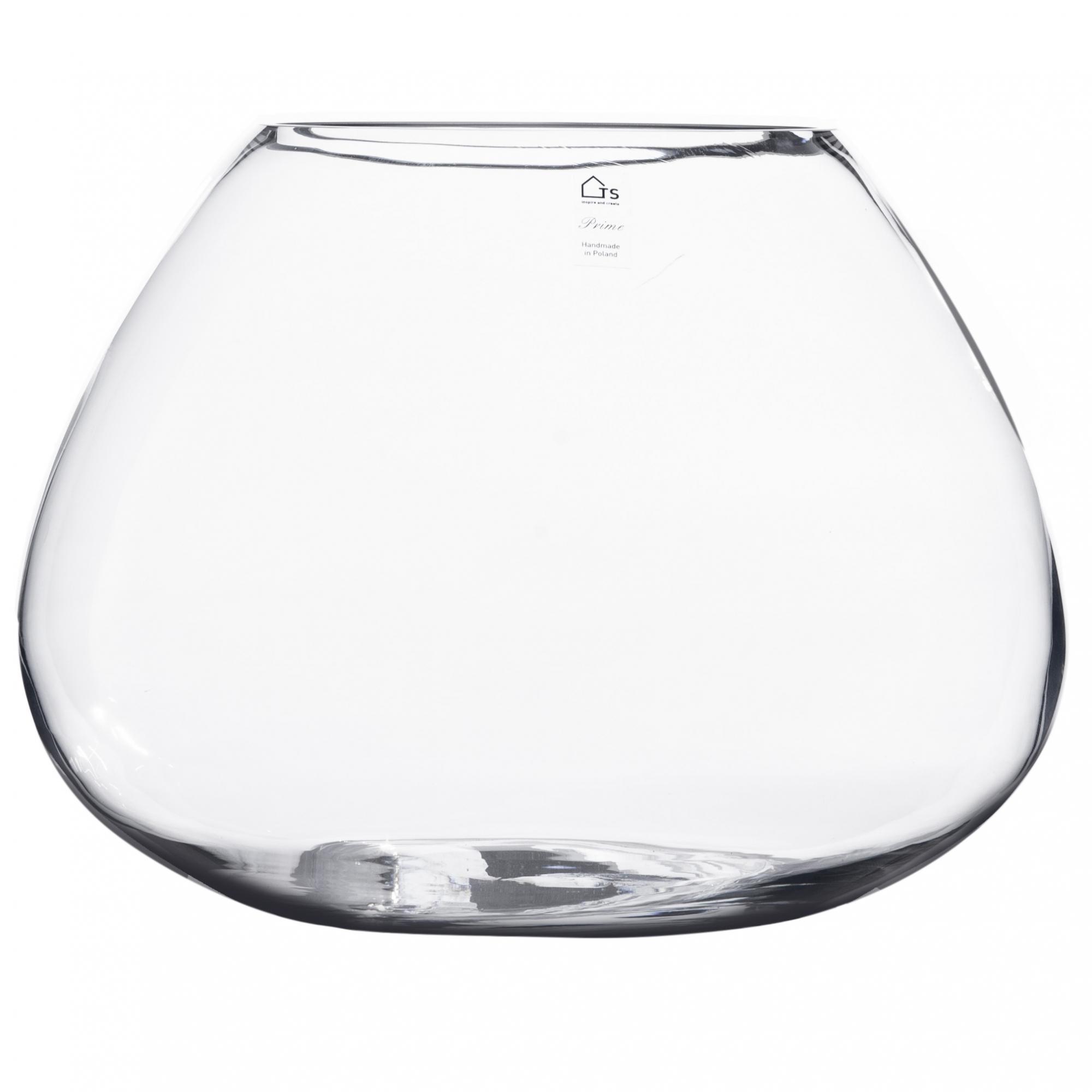Vaso de Vidro Artesanal Polonês Rario 38x30cm