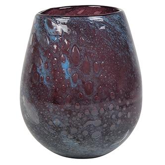 Vaso de Vidro Azul Tanzanira Liz 13x15cm