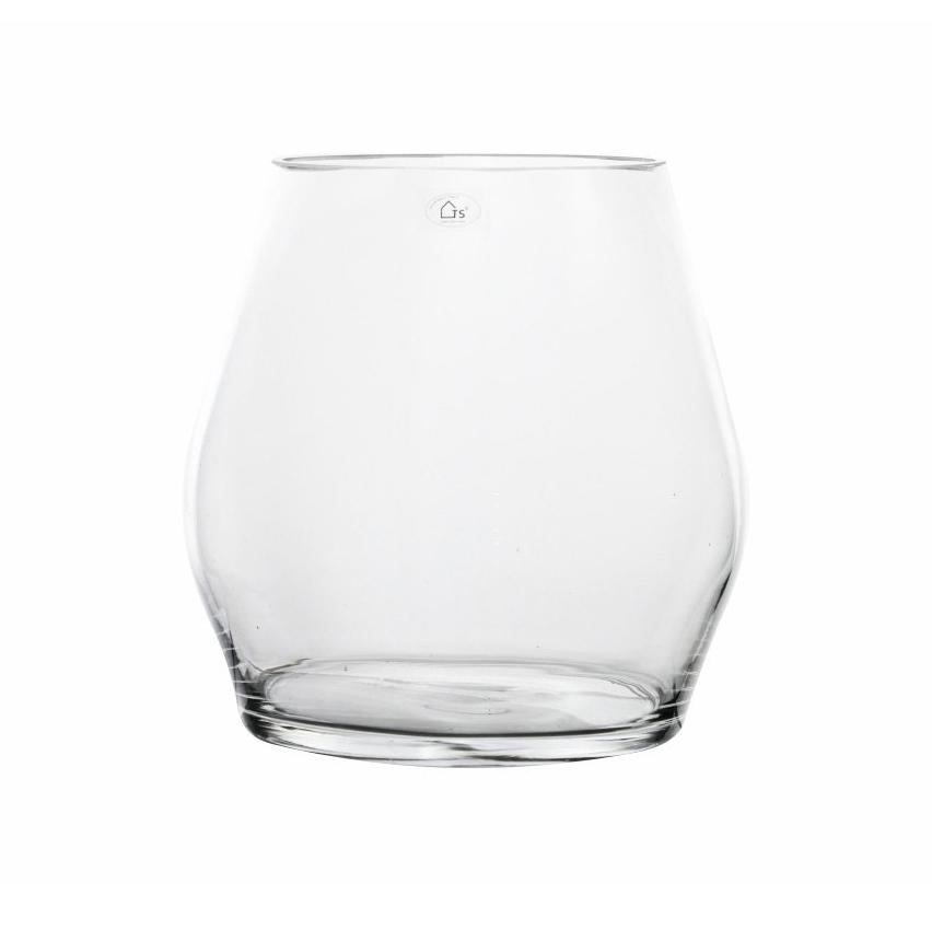 Vaso de Vidro Teca Artesanal Polonês 25x25cm