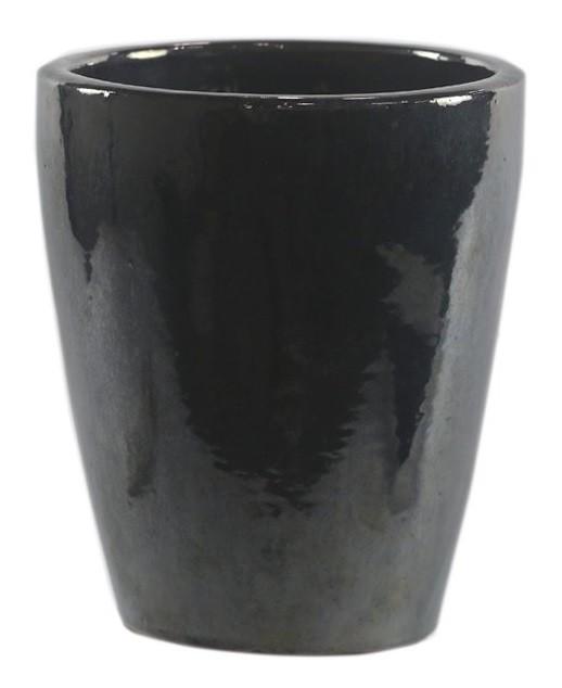 Cachepot de Cerâmica Artesanal Chumbo Livia 21x26cm