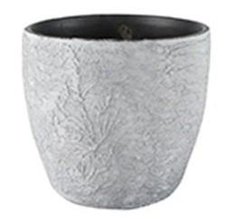 Cachepot de Cerâmica Branco Artesanal Português Emil 15x13cm