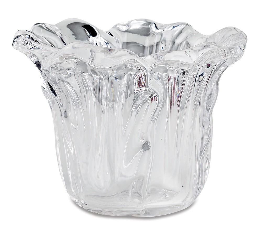 Vasinho irregular em vidro - 11cm x 08cm Cor: Transparente