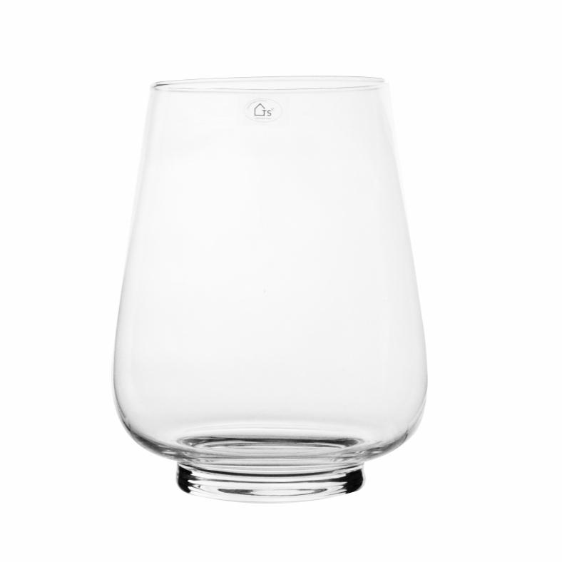 Vaso em Vidro Artesanal Polonês 19x27cm