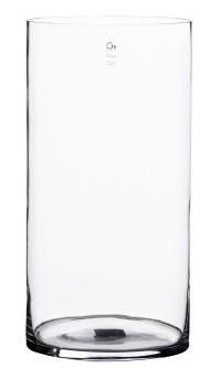 Vaso em vidro artesanal polonês (Cilindro) -  15cm x 35cm Cor: Transparente