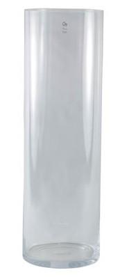Vaso em vidro artesanal polonês (Cilindro) -  20cm x 80cm Cor: Transparente