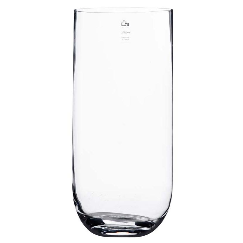 Vaso de Vidro Artesanal Polonês Curva 18X40cm