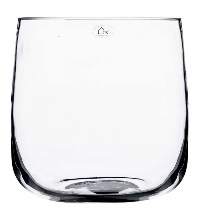 Vaso de Vidro Artesanal Polonês Facile 15x16cm
