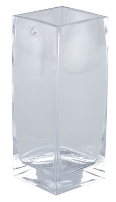 Vaso de Vidro Artesanal Polonês Kwadrat 13x35cm