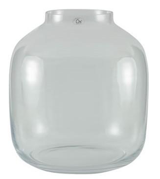Vaso em vidro artesanal polonês (Mensa) -  34cm x 38cm Cor: Transparente