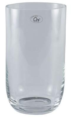 Vaso em vidro artesanal polonês (Queeny) -  20cm x 50cm Cor: Transparente