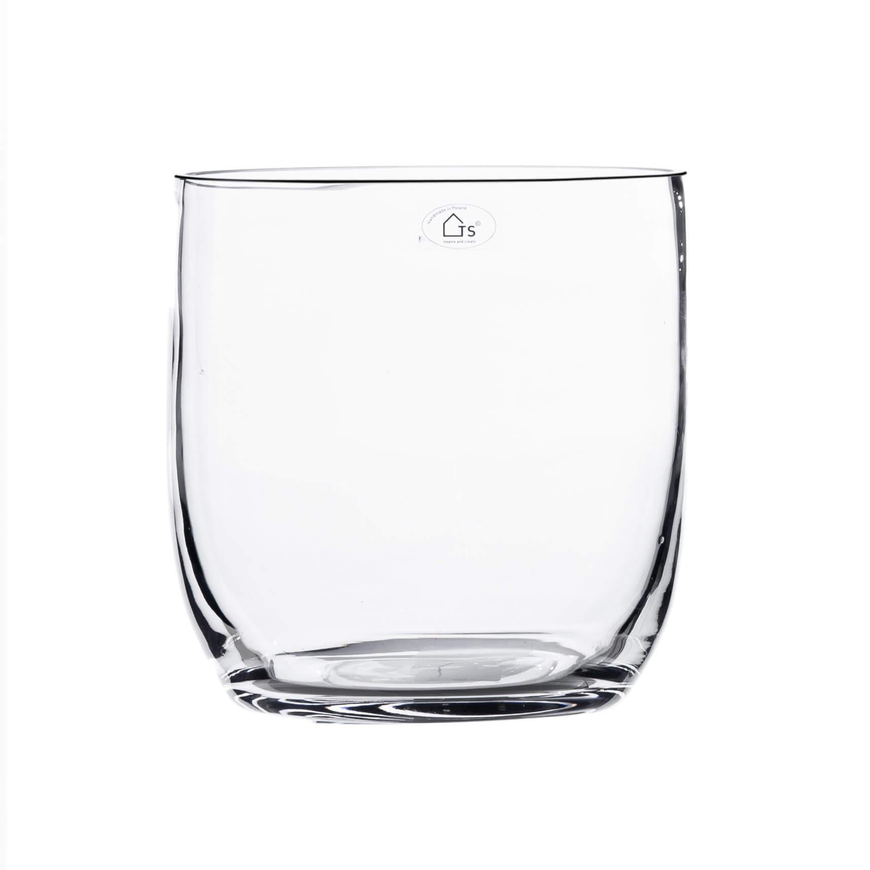 Vaso de Vidro Artesanal Polonês Queeny  20X20cm