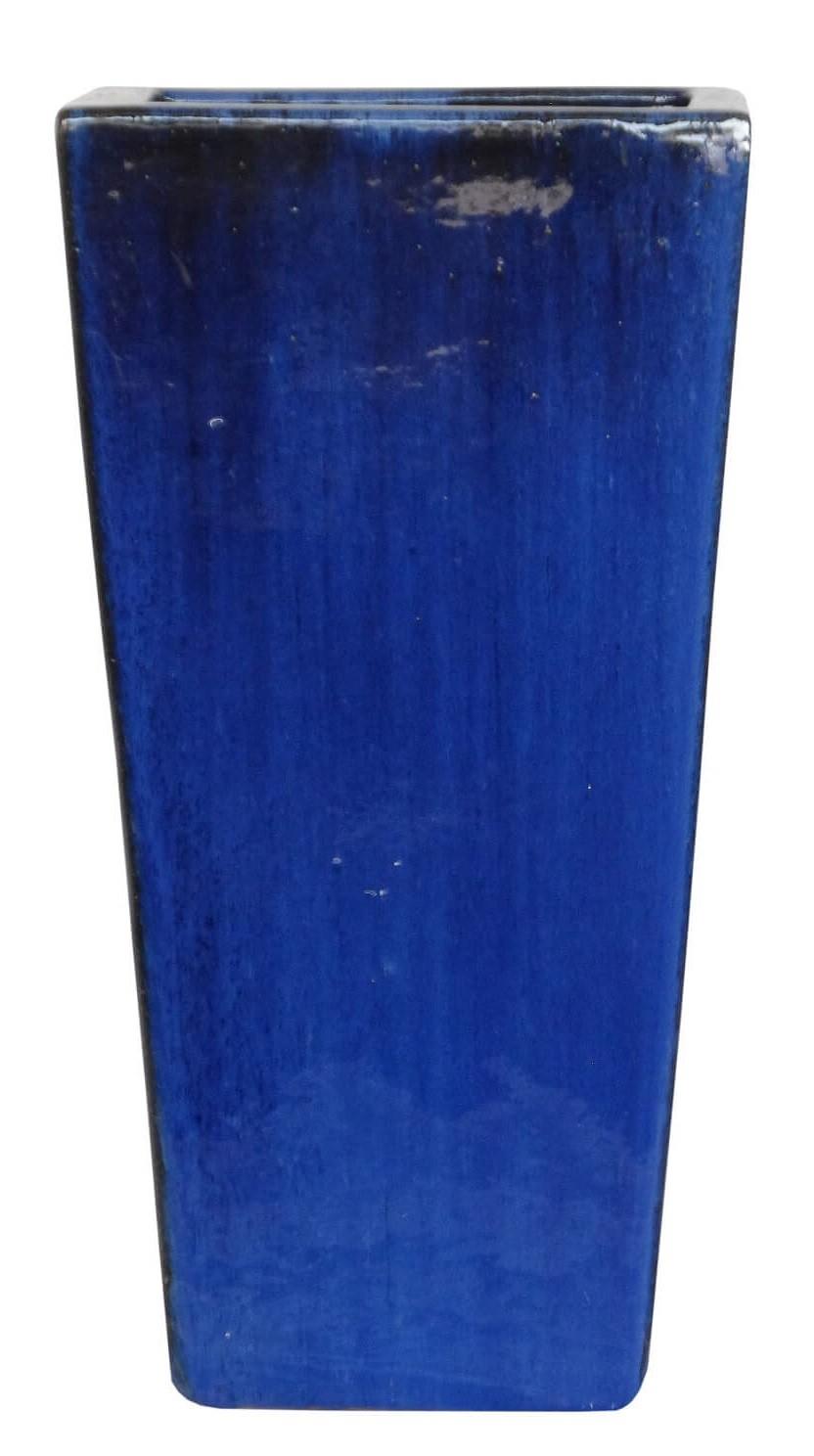 Vaso Vietnamita Trapezio Azul 35x70cm