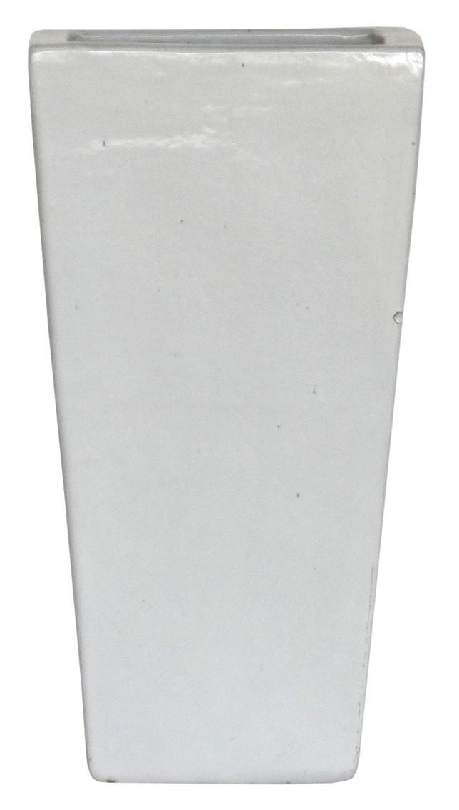 Vaso Vietnamita Trapezio Branco 35x70cm