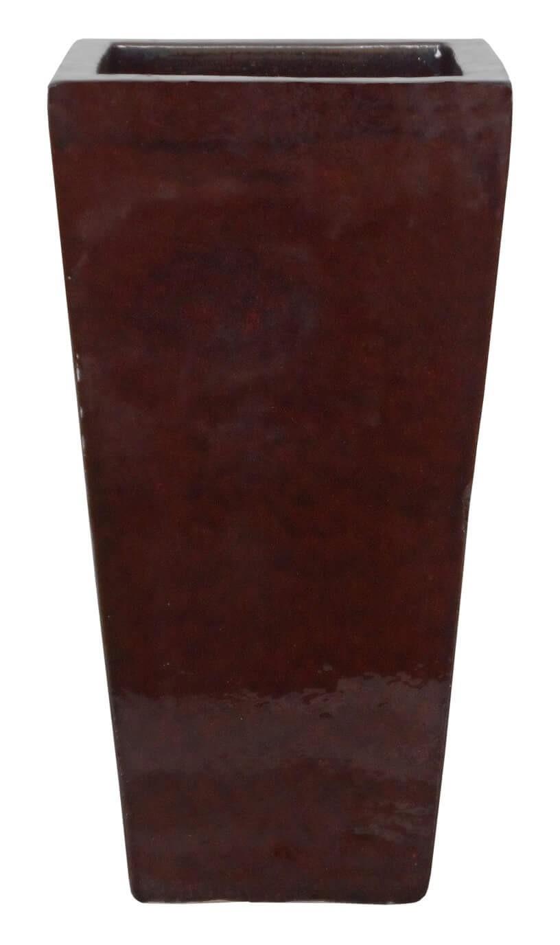 Vaso Vietnamita Trapezio Marrom 35x70cm