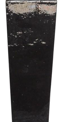 Vaso Vietnamita Trapezio Preto 37x90cm