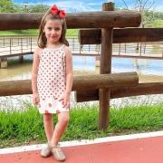 Vestido barra dupla infantil poa - 6783