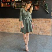 Vestido Chemise com Faixa - 6607