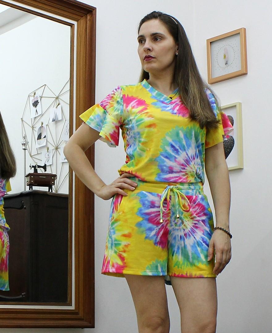 Conjunto Tie Dye de Short