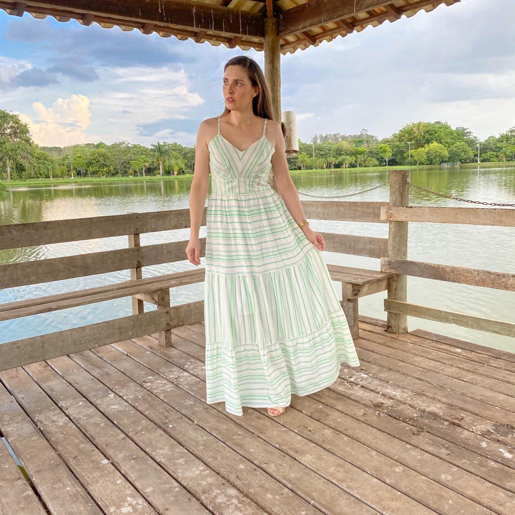 Vestido longo marias com alça - 6782