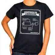 Camiseta Anatomia da Liberdade - 9mm Podcast - Feminina / Babylook