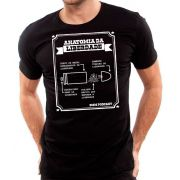 Camiseta Anatomia da Liberdade - 9mm Podcast - Masculino / Unissex