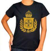 Camiseta Brasão Imperial - Feminina / Babylook