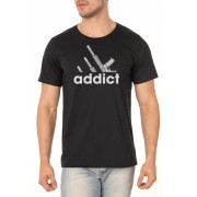 Camiseta Guns Addict - 9mm Podcast - Masculino / Unissex