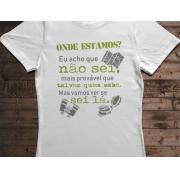 Camiseta Onde Estamos? - Canal Outdoors - Branca / Feminina / Babylook