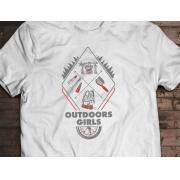 Camiseta Outdoors Girls - Canal Outdoors - Branca / Unissex