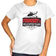 Camiseta Pinochet's Helicopter Tours  - Feminina / Babylook