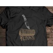 Camiseta Reborn - Canal Outdoors - Preta / Unissex