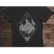 Camiseta Skin - Canal Outdoors - Preta / Feminina / Babylook