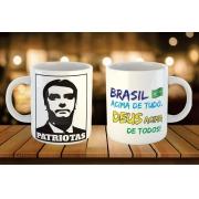 Caneca Brasil acima de tudo - Patriotas