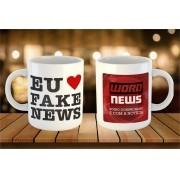 Caneca Eu ❤ Fake News - Word News