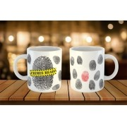 Caneca Fingerprints - Crimes Reais