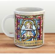 Caneca Sagrado Coração de Maria - ConservaTee