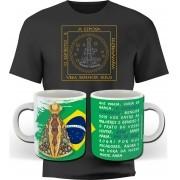 Kit Romaria - Camiseta + Caneca Nossa Senhora Aparecida - ConservaTee