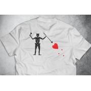 PRÉ-VENDA - Camiseta Black Beard (O Barbanegra) BRANCA - Depilações Masc. Spec Ops