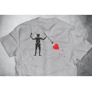 PRÉ-VENDA - Camiseta Black Beard (O Barbanegra) CINZA MESCLA - Depilações Masc. Spec Ops