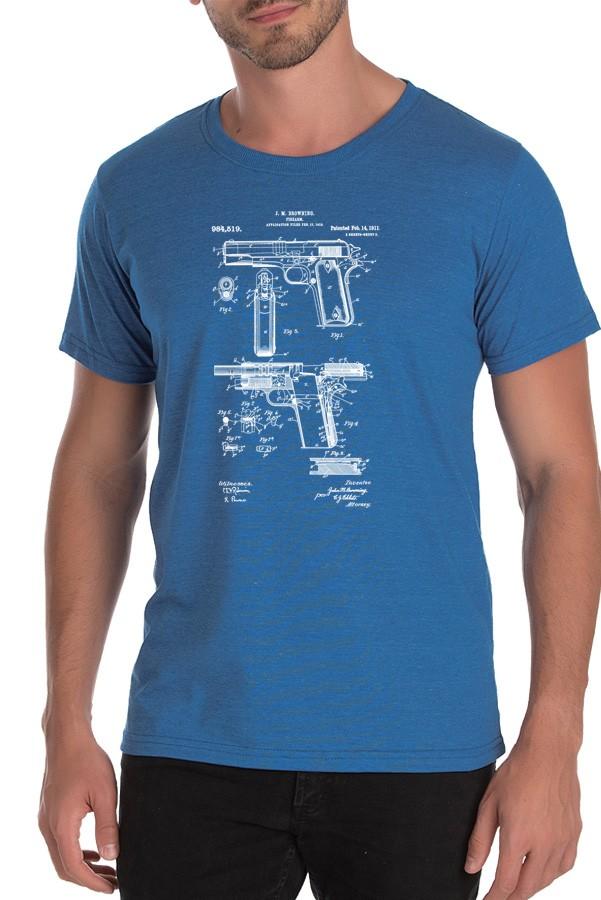 Camiseta 1911 - Armas Históricas - 9mm Podcast - Masculino / Unissex