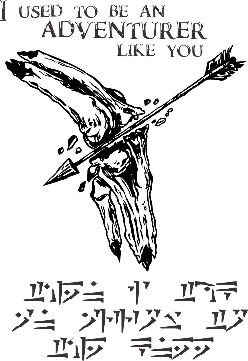 Camiseta Arrow To The Knee - Unissex