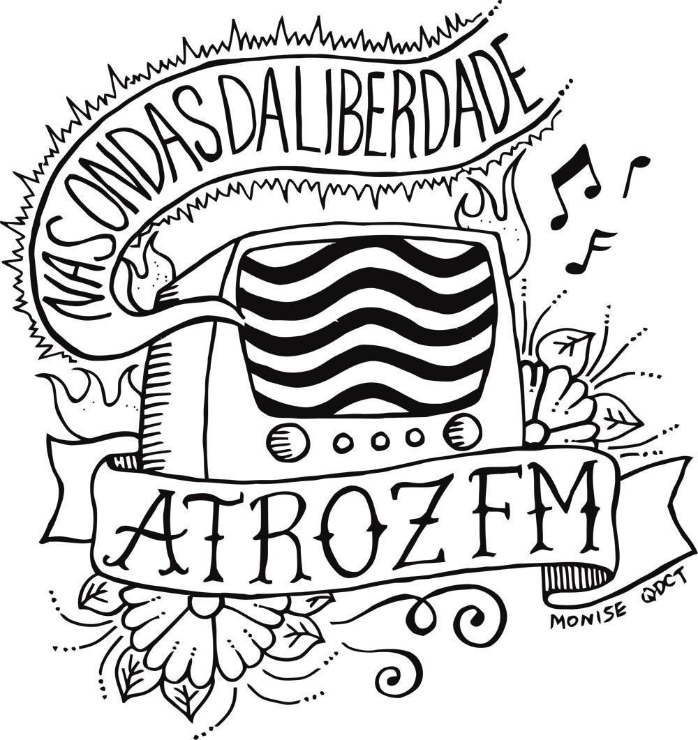Camiseta ATROZ FM - Que Diabo Cê Tinha - Unissex