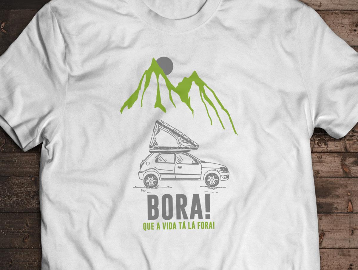 Camiseta BORA! - Canal Outdoors - Branca / Unissex