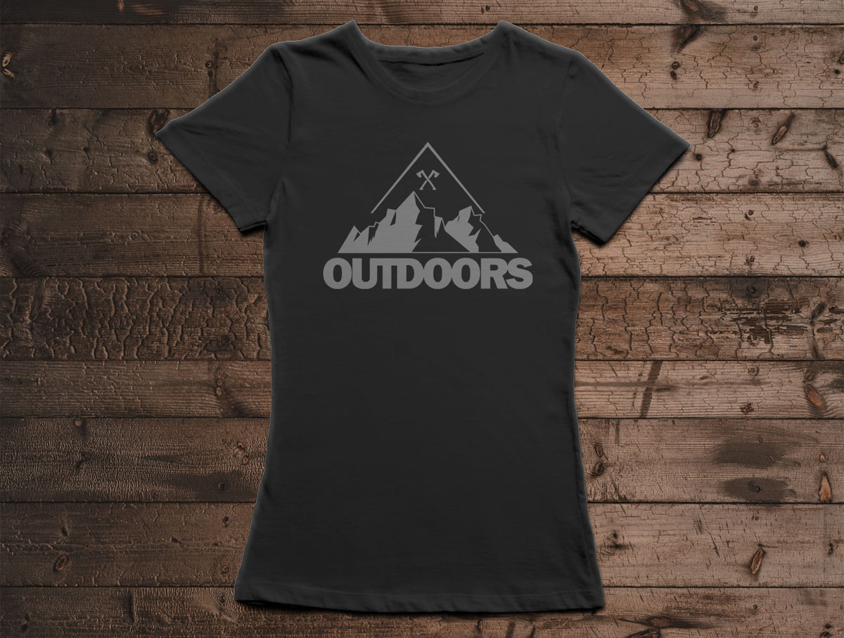 Camiseta Canal Outdoors - Preta / Feminina / Babylook