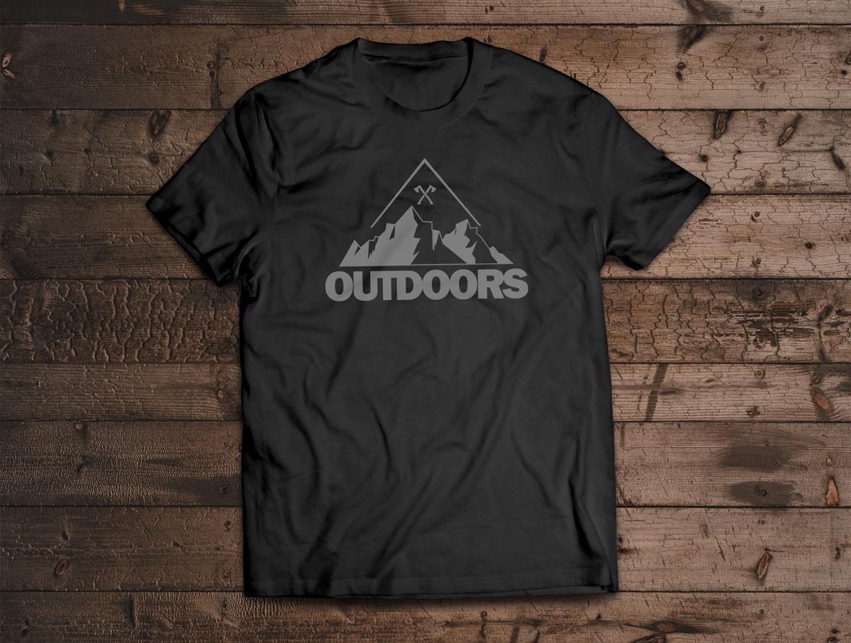 Camiseta Canal Outdoors - Preta / Unissex