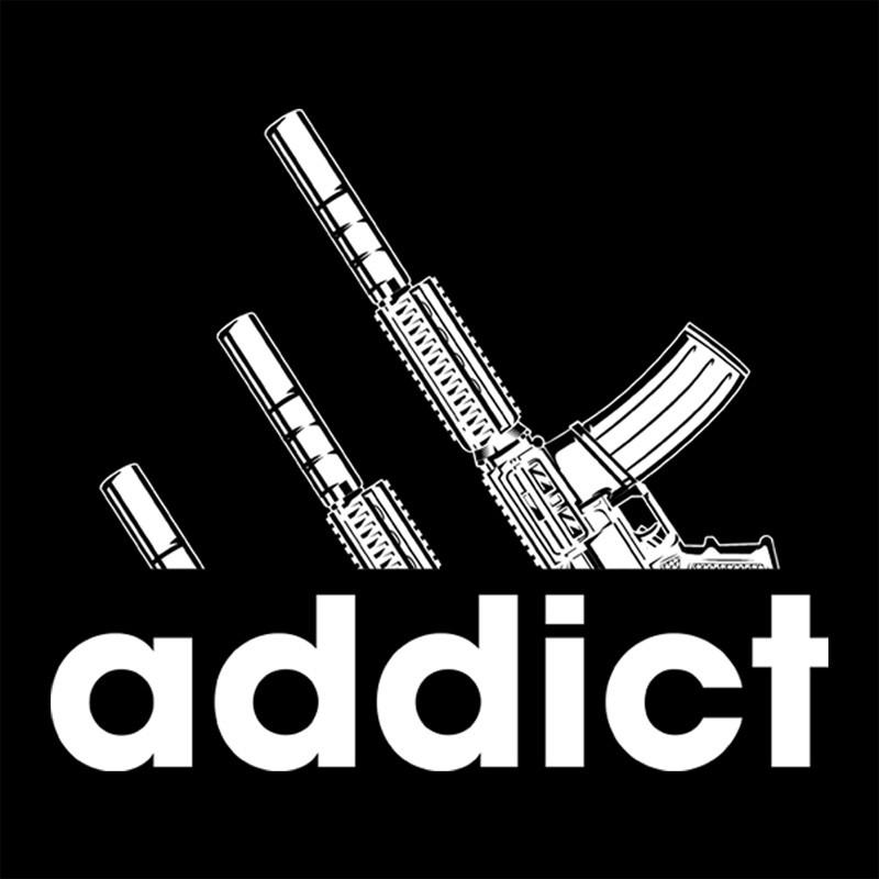Camiseta Guns Addict - 9mm Podcast - Masculino / Unissex